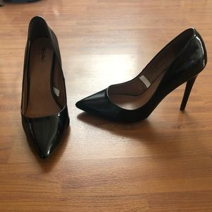 Patent Black Stiletto Heels